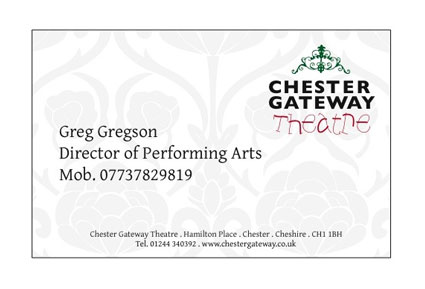 Chester Gateway Theatre Business Card