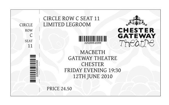 Chester Gateway Theatre Ticket